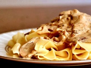 Monday's menu:  Beef Stroganoff recipe