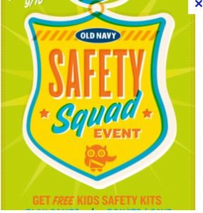 old navy free kids safety kit event