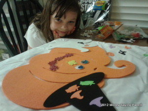 DIY Halloween craft chair cover