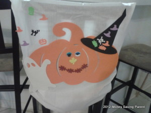 halloween DIY bar stool chair slip cover