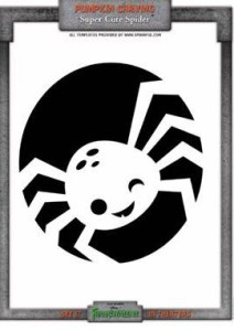 free printable spider pumpkin carving template