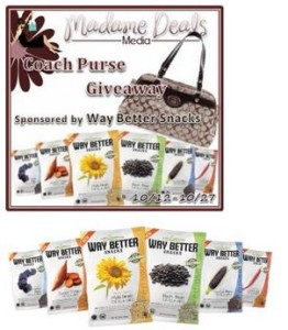 Way Better Snacks offers way better Coach Purse giveaway