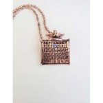 rose gold calendar necklace