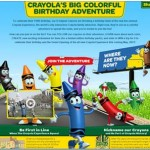 crayola crayons 110th birthday