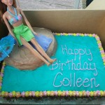 beach themed birthday cake