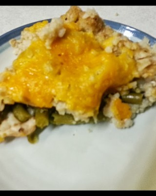 Menu Monday! Slow cooker chicken, rice, green bean casserole recipe