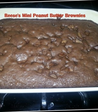 Reese's Mini Peanut Butter Cup Brownies