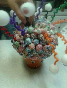 Happy Halloween Decor that does More! Lollipop Monster