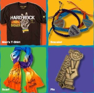 Imagine There's No Hunger gifts from Hard Rock