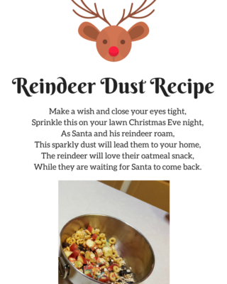 Reindeer Dust Recipe and Poem for Christmas Eve