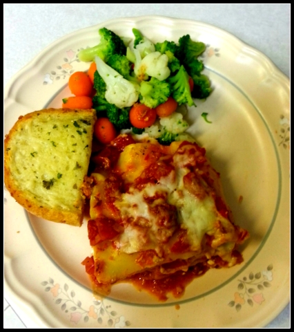 red gold lasagna dinner