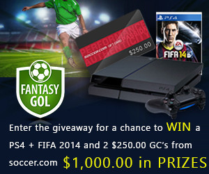 Score for this Super Soccer Giveaway featuring Playstation 4 and more! (Three prizes and winners -ends May 12, 2014)