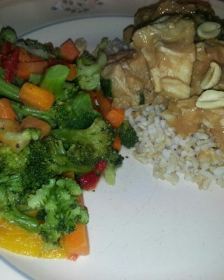Thai Peanut Chicken Curry
