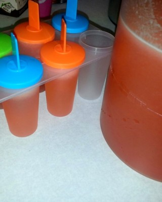 Homemade Strawberry Lemonade and Strawberry Lemonade freezer pop recipe