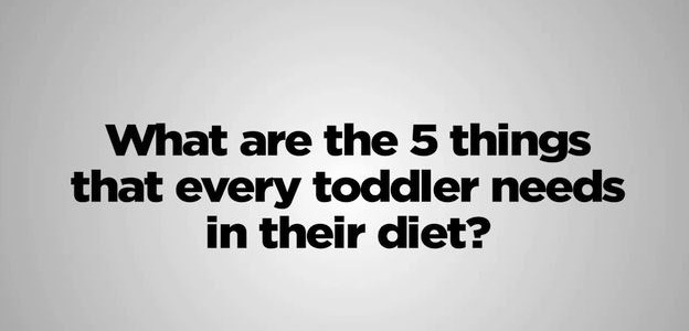 toddler nutrition facts
