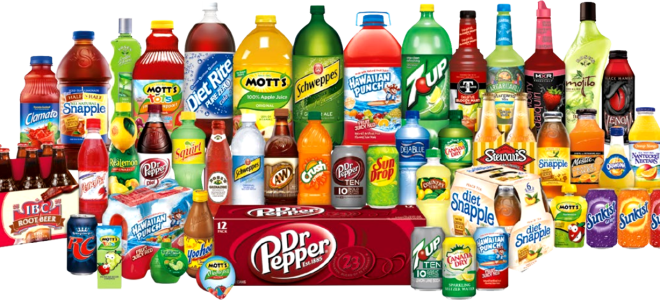 Dr. Pepper Snapple products