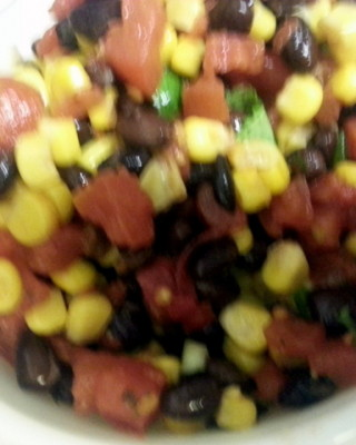 Black Bean and Grilled Corn salsa recipe