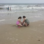 Our kids building sand castles