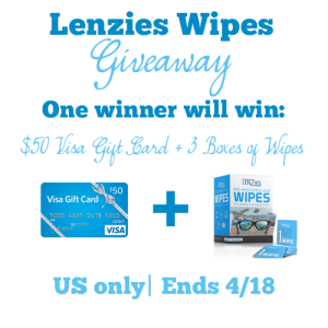 Great gadget giveaway: Lenzies Wipes and $50 Visa Gift Card (ends 4/18)