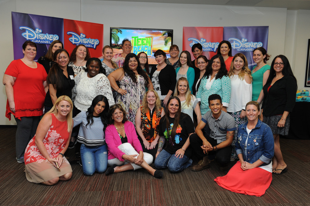 "TEEN BEACH 2 - ""Teen Beach 2"" stars Chrissie Fit and Jordan Fisher participate in a Mom blogger event to celebrate the movie's June 26, 2015 premiere. (Disney Channel/Valerie Macon) CHRISSIE FIT, JORDAN FISHER, MOM BLOGGERS"