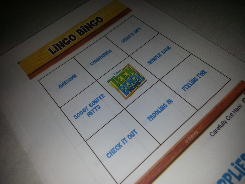 Teen Beach Bingo Lingo Game