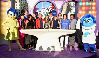 HOLLYWOOD, CA - JUNE 08:  (L-R) Joy, actress Paula Poudstone, director/writer/screenwriter Pete Docter, actors Mindy Kaling, Richard Kind, Lewis Black, Kaitlyn Dias, Bill Hader, Amy Poehler, Kyle MacLachlan, Phyllis Smith, Bobby Moynihan, John Ratzenberger and Sadness attend the Los Angeles Premiere and Party for Disney?Pixar?s INSIDE OUT at El Capitan Theatre on June 8, 2015 in Hollywood, California.  (Photo by Alberto E. Rodriguez/Getty Images for Disney) *** Local Caption *** Paula Poundstone; Pete Docter; Mindy Kaling; Richard Kind; Lewis Black; Kaitlyn Dias; Bill Hader; Amy Poehler; Kyle MacLachlan; Phyllis Smith; Bobby Moynihan; John Ratzenberger; Joy; Sadness
