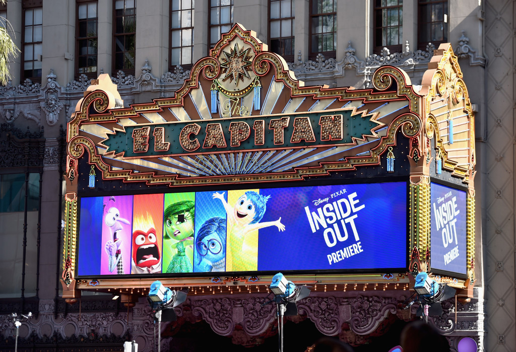 HOLLYWOOD, CA - JUNE 08:  A view of the atmosphere at the Los Angeles Premiere and Party for Disney?Pixar?s INSIDE OUT at El Capitan Theatre on June 8, 2015 in Hollywood, California.  (Photo by Alberto E. Rodriguez/Getty Images for Disney)
