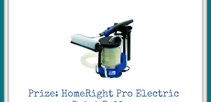 Paint Like a Pro Sweepstakes with HomeRight Pro Electric Paint Roller