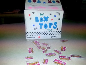Making bank with Box Tops! Bonus tops, box bank and scavenger hunt #BTFE