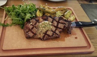 steak at California Pizza Kitchen