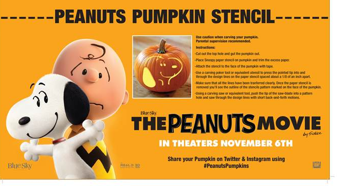 Free peanuts pumpkin carving templates.
