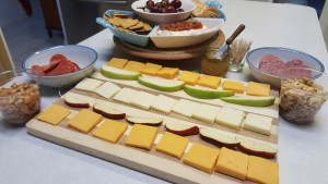 Football food! Easy Fruit, Meat and Cheese Tray