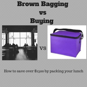 Brown bagging vs buying your lunch: Save over $1500 by packing your lunch