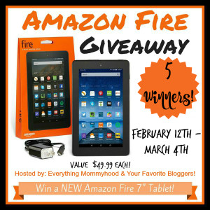One Hot Giveaway, 5 Winners: Amazon Fire Tablet