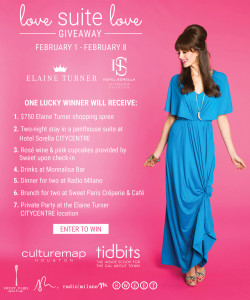 Love Suite Love Giveaway with Elaine Turner and Hotel Sorella #SuiteLove @elaineturner