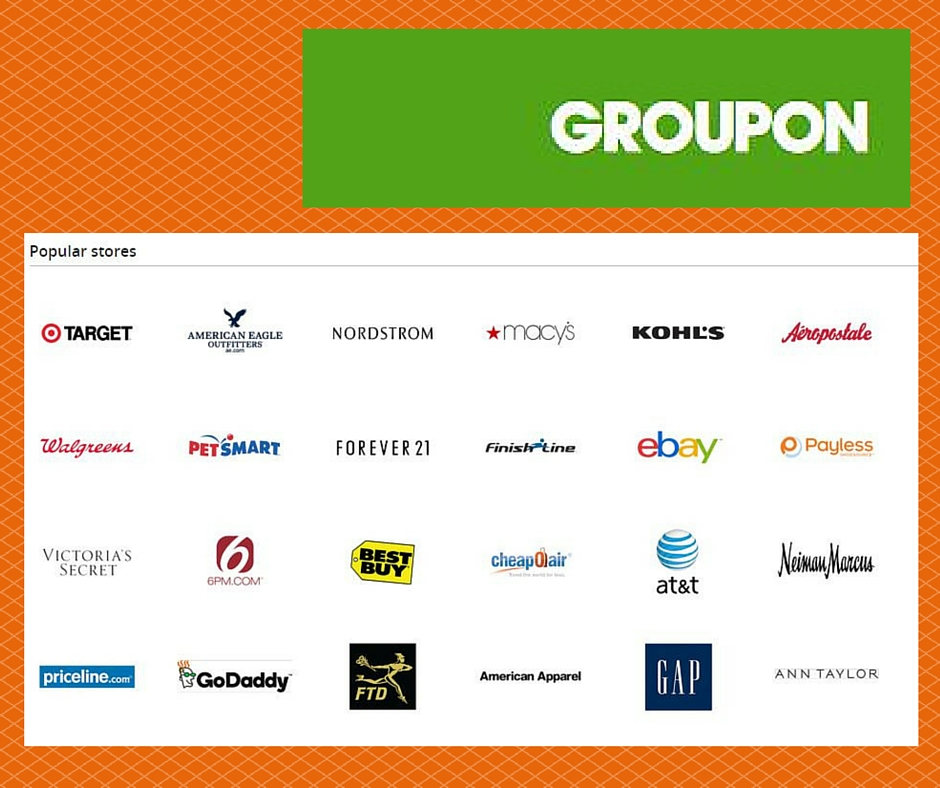 Groupon discount coupons