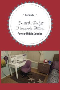 10 Tips to Create the Perfect Homework Station for Your Middle Schooler