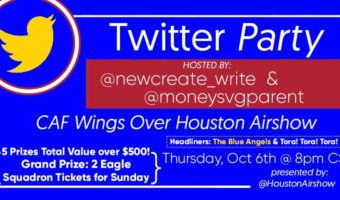 You are invited to the CAF Wings Over Houston Airshow Twitter Party! Five Fabulous Prizes #WOHAirshow