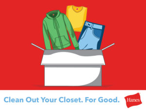 Cleaning out the clothes closet for good: Hanes and Give Back Box #UnderWearOnUs