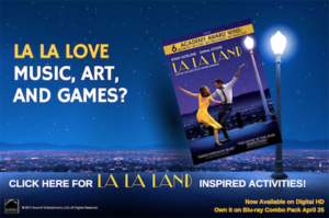 Mom's Night In Viewing Party with La La Land! On DVD and Blu Ray April 25