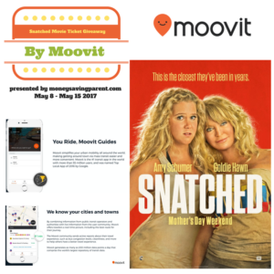 Moovit Movie Ticket Giveaway: Enter for a Chance to Win 4 Tickets to Snatched #Snatched #Moovit