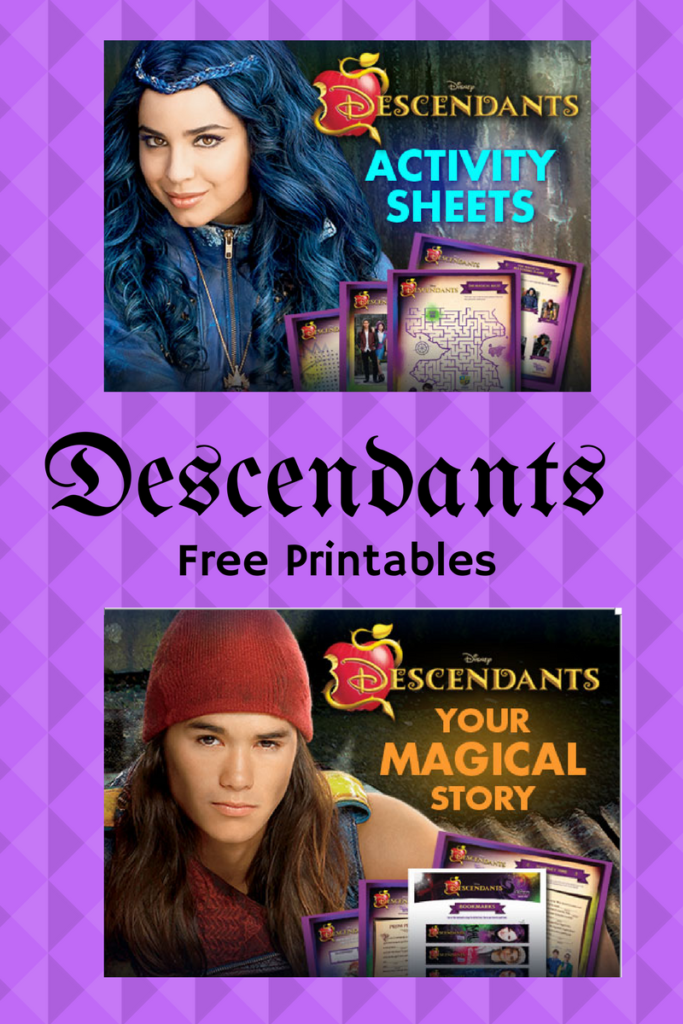 descendants free printables
