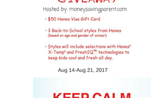 Back to School is Cool with Hanes! $50 VISA Gift Card and Comfort Kit Giveaway #HappyinHanes