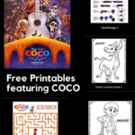 Free printable activities featuring COCO #PixarCoco