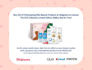 Walgreens Plus P&G Equals R29 Collection Reflect Box for Free #theR29collection #WalgreensxR29