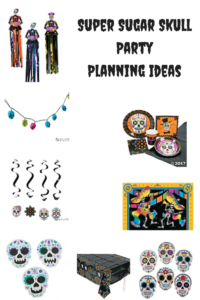 Super Sugar Skull Party Planning Ideas for Halloween or Dia de los Muertos