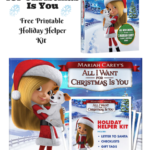 All I Want for Christmas Is You! Free Printable Holiday Help and Craft Kit  #AllIWantMovie