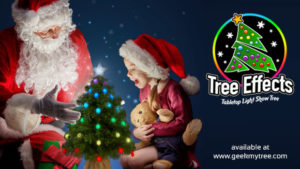 Tree Effects! A Tabletop Light Show Tree offering Fun Filled Holiday Decorations