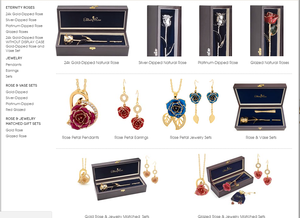 Memorable Meaningful and Magical Gifts The Eternity Rose Collection