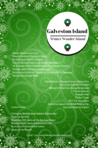 Winter Wonder Island with a Free Printable Galveston Island Ultimate Holiday Travel Guide #ItsIslandTime